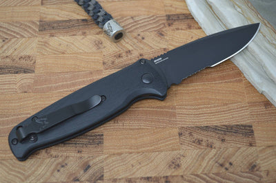 Benchmade 4300SBK CLA - Black Combo Blade - Automatic Knife - Northwest Knives
