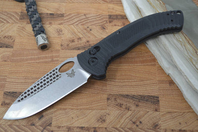 Benchmade 737 Aileron - Satin Plain Blade / Black Handle - Northwest Knives