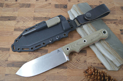 "White River Knives 5"" Firecraft - Kydex Sheath & Micarta Handle - Northwest Knives"