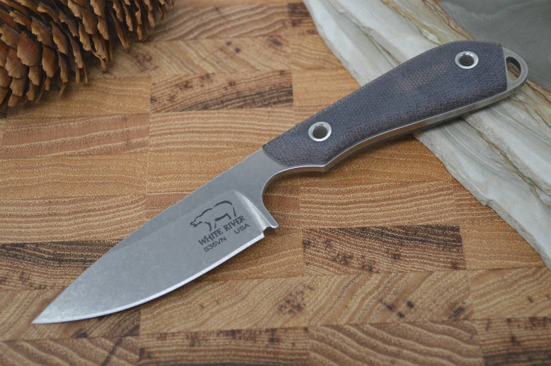 White River Knives Caper - Black Canvas Micarta Handle - Northwest Knives