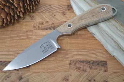 White River Knives Caper - Natural Canvas Micarta Handle - Northwest Knives