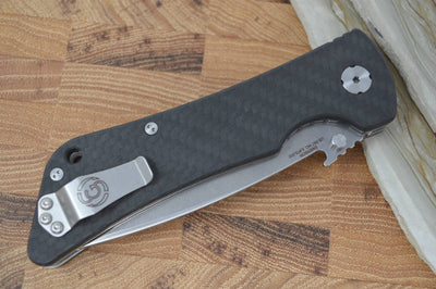 Southern Grind Bad Monkey Emerson - Satin Blade / CF Handle - Northwest Knives