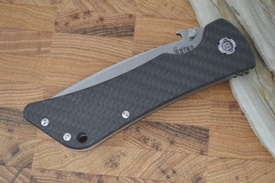 Southern Grind Bad Monkey Emerson - Tanto Satin Blade / CF Handle - Northwest Knives