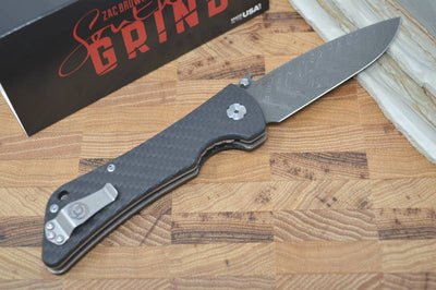 Southern Grind Bad Monkey Emerson - Boomerang Damascus / CF Handle - Northwest Knives