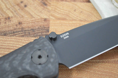Southern Grind Spider Monkey - Black Plain Blade / CF Handle - Northwest Knives