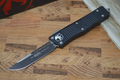 Microtech Troodon OTF - Single Edge Standard / Black Handle - 139-1 - Northwest Knives