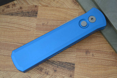 Pro Tech Godson Auto - Blue Handle - Blasted Blade - Northwest Knives