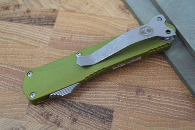 Heretic Knives Manticore S OTF - Green Handle / Battleworn Tanto - Northwest Knives