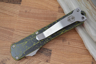 Heretic Knives Manticore S OTF - Breakthrough Green Handle / Stonewash Tanto - Northwest Knives