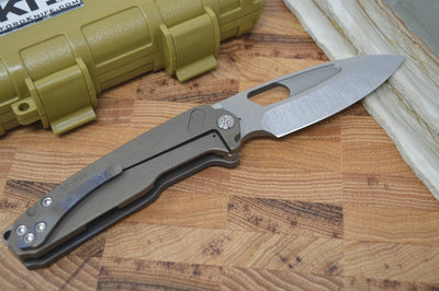 Medford Knife & Tool Infraction - Flamed Handle & Tumbled S35VN - Folder - Northwest Knives