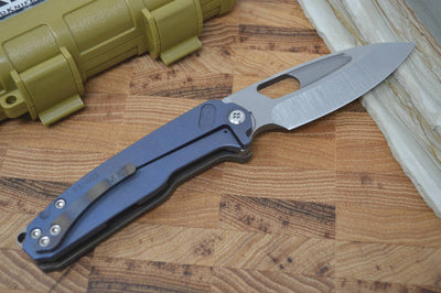 Medford Knife & Tool Infraction - Flamed Handle & Tumbled S35VN Blade - Folder - Northwest Knives