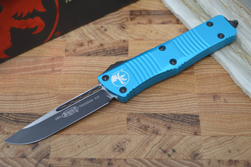 Microtech Troodon OTF - Single Edge Standard / Turquoise Handle - 139-1TQ - Northwest Knives