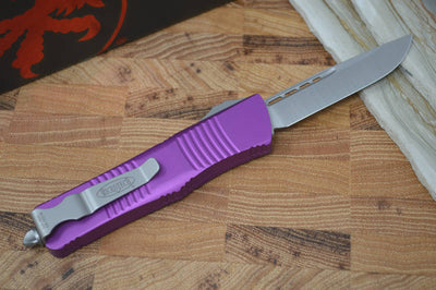 Microtech Troodon OTF - Satin Single Edge / Violet Handle - 139-4VI - Northwest Knives
