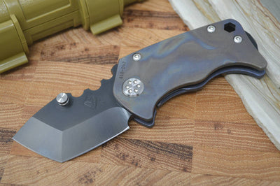 Medford Knife & Tool Panzer - Flamed Ti Handles & S35VN Blade  - Manual Folder - Northwest Knives