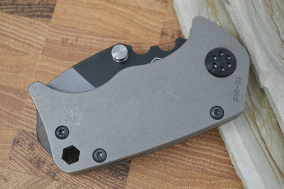 Medford Knife & Tool Panzer - Tumbled Ti Handles & S35VN Blade  - Manual Folder - Northwest Knives