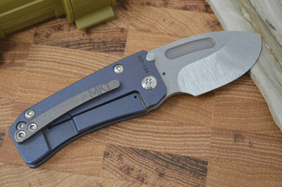 Medford Knife & Tool Hunden - Blue Anodized Handle & S35VN Blade - Folder - Northwest Knives