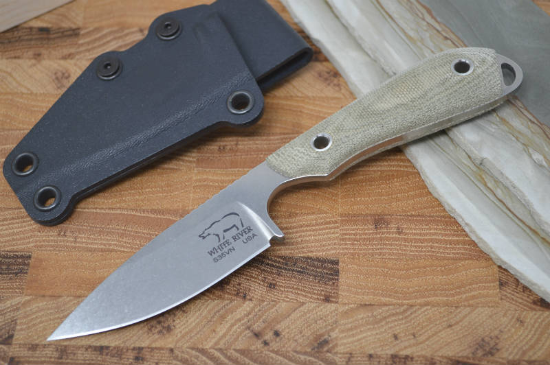 White River Knives Caper - Olive Drab Canvas Micarta Handle - Northwest Knives