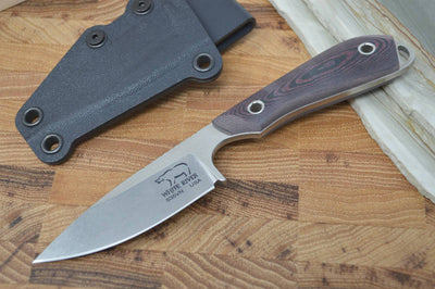 White River Knives Caper - Red & Black Richlite Handle