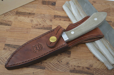 White River Knives Sendero Classic - Olive Drab Canvas Micarta Handle