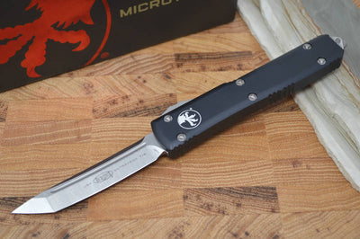 Microtech Ultratech OTF - Tanto Edge / Stonewash Blade / Black Body - 123-10 - Northwest Knives