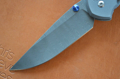 Chris Reeve Knives Large Sebenza 21 - Drop Point Blade / Ladder Damascus - Northwest Knives