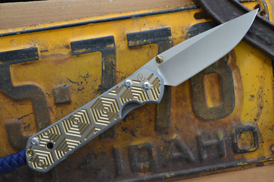Chris Reeve Knives Large Sebenza 21 - Hex in Gold w/ Midnight Lanyard - Left Handed