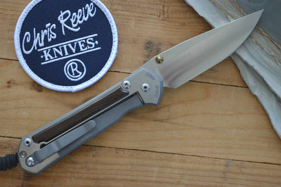 Chris Reeve Knives Large Sebenza 21 - Macassar Wood Inlays / Double Lugs