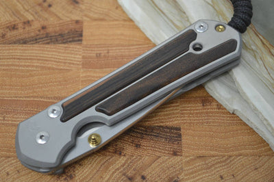 Chris Reeve Knives Large Sebenza 21 - Macassar Wood Inlay - Northwest Knives