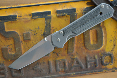 Chris Reeve Knives Large Sebenza 21 - Black Micarta Inlay - Tanto Point