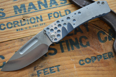 Medford Knife & Tool Midi Custom- Blue Anodized  - Manual Folder