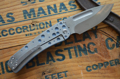 Medford Knife & Tool Midi Custom- Blue Anodized  - Manual Folder - Northwest Knives