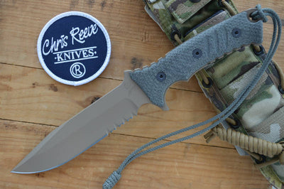 "Chris Reeve Pacific 7"" Fixed Blade - Partial Serrated Blade - Flat Dark Earth"