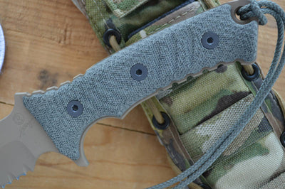 "Chris Reeve Knives Pacific 7"" Fixed Blade - Partial Serrated Blade - Flat Dark Earth - Northwest Knives"
