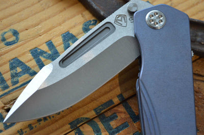 Medford Knife & Tool Proxima - Blue Anodized Titanium  - Manual Folder