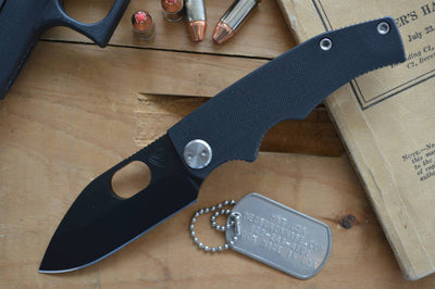 Medford Knife & Tool 187 RMP - D2 Steel & Black G10 - Manual Folder