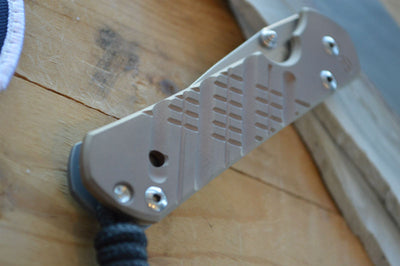 Chris Reeve Knives Small Sebenza 21 - CGG Cross Hatch FDE - Drop Point - Northwest Knives