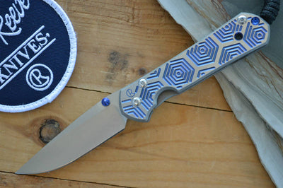 Chris Reeve Knives Small Sebenza 21 - CGG Hex in Blue - Drop Point - Northwest Knives