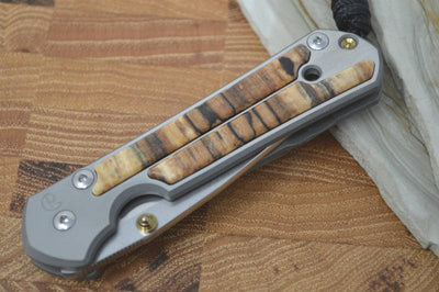 Chris Reeve Knives Small Sebenza 21 - Drop Point - Spalted Beech Inlay - Northwest Knives