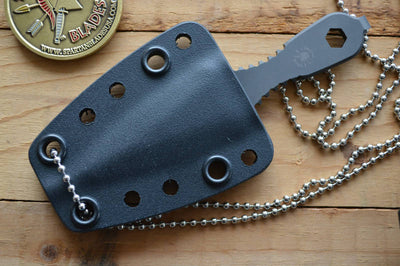 Spartan Blades VELOS Lapel Dagger Neck Knife - Black Blade - Northwest Knives