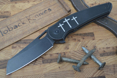 Jake Hoback Knives OSF in Fallout Black - Three Crosses