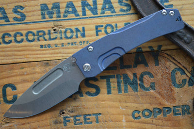 Medford Knife & Tool Slim Midi - Blue Anodized  - Manual Folder