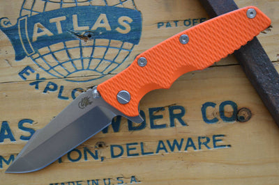 Rick Hinderer Knives Eklipse Gen 2 - Harpoon Spanto - Stonewash Finish - Orange G10