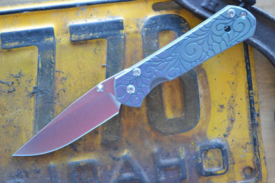 Chris Reeve Knives Small Sebenza 21 - CGG Paisley - Drop Point - Northwest Knives