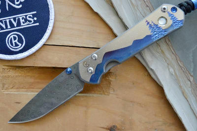 Chris Reeve Knives Small Sebenza 21 - CGG Night Sky - Raindrop Damascus - Northwest Knives