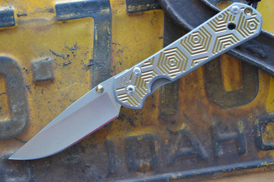 Chris Reeve Knives Small Sebenza 21 - CGG Hex in Gold - Drop Point - Northwest Knives