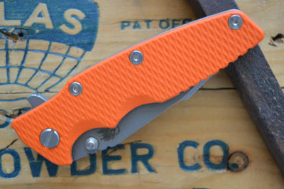 Rick Hinderer Knives Eklipse Gen 2 - Harpoon Spanto - Working Finish - Orange G10
