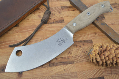 White River Camp Cleaver - Olive Drab Micarta