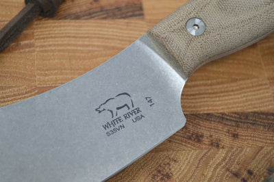 White River Camp Cleaver - Olive Drab Micarta - Northwest Knives