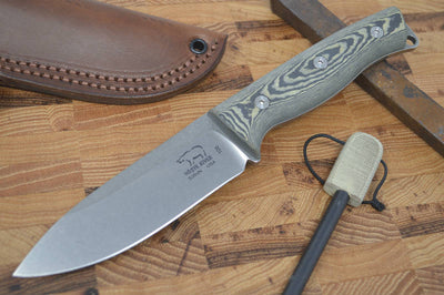 White River Ursus 45 Bushcrafter - Maple & Black Richlite Handle
