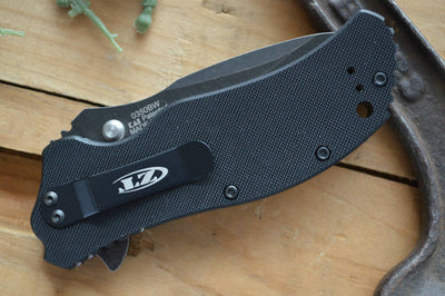 Zero Tolerance 0350BW Assisted Flipper - Blackwash Blade
